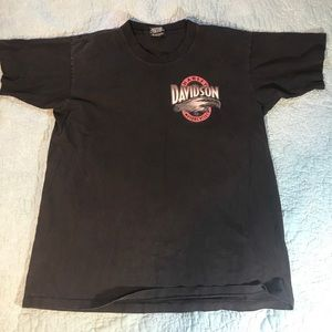 Black Harley Davidson Hong Kong t-shirt